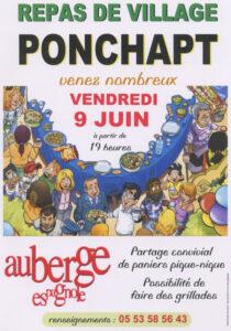 Repas de village à Ponchapt @ Bourg de Ponchapt | Port-Sainte-Foy-et-Ponchapt | Nouvelle-Aquitaine | France