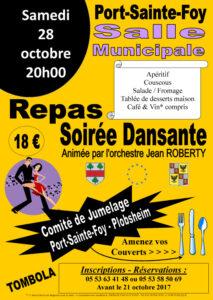 Repas dansant - Comité de jumelage @ Salle municipale - Jacques PREVERT | Port-Sainte-Foy-et-Ponchapt | Nouvelle-Aquitaine | France