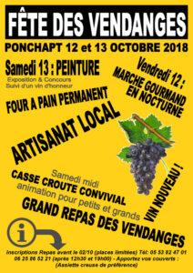 Fête des vendanges de Ponchapt @ Ponchapt, place du village | Port-Sainte-Foy-et-Ponchapt | Nouvelle-Aquitaine | France