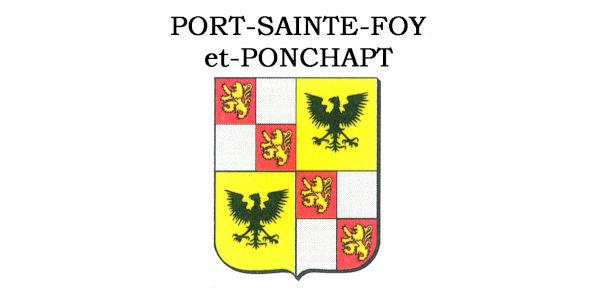 Blason Port-Sainte-Foy-et-Ponchapt