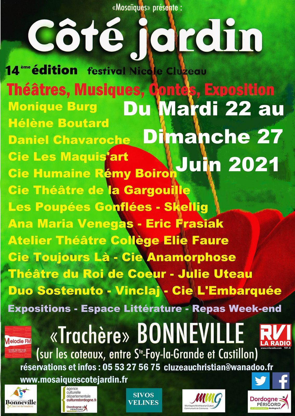 Mosaïques ''Festival Côté Jardin''